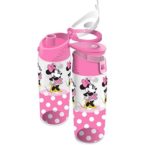 Disney Run Around Minnie Mouse Pink Polka Dot Water Bottle, 9 -