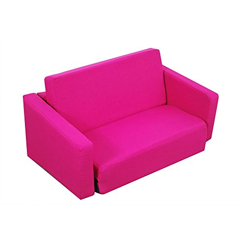 Juvenile Poly Cotton Sofa Sleeper – Twin 36″ Hot Pink