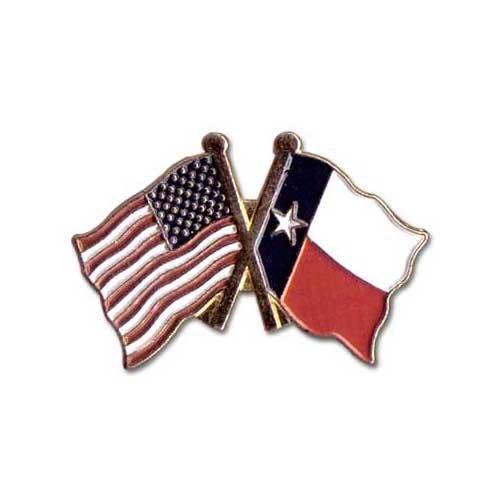US Flag Store Lapel Pin USA and Texas Flag (Texas Flag Lapel Pin)