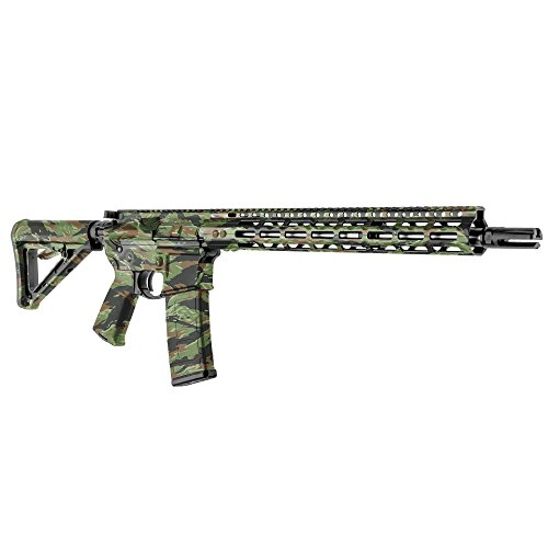 GunSkins AR-15 Rifle Skin Camouflage Kit DIY Vinyl Wrap with precut Pieces (GS Vietnam Tiger Stripe)