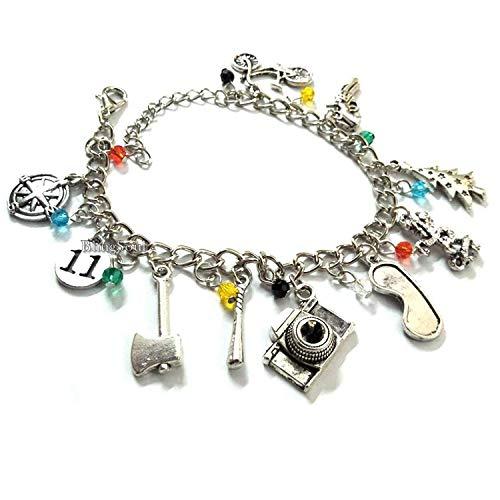 Blingsoul Silver Eleven Charm Bracelet Jewelry - Finn Wolfhard Costume Bracelets Christmas Jewelry Merchandise Gifts for Women