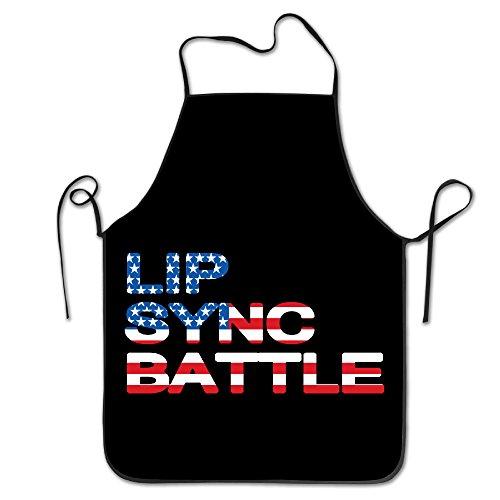 Lip Sync Battle Flag Kitchen Aprons For Women Men
