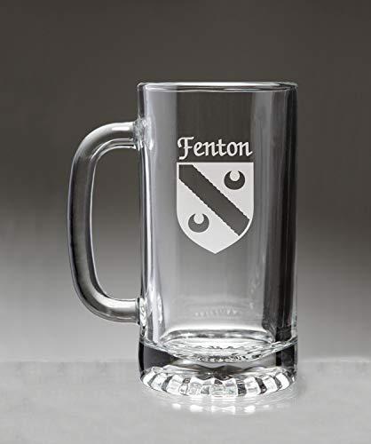 Fenton Glass Mug - Fenton Irish Coat of Arms Glass Beer Mug (Sand Etched)