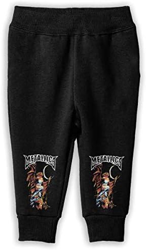 Metallica メタリカ ロングパンツ スウェットパンツ 男の子 女の子 キッズ 普段着 スクール 快適 吸汗 伸縮性 通気 耐久 春秋 肌触り 柔らかい 下着 入学式