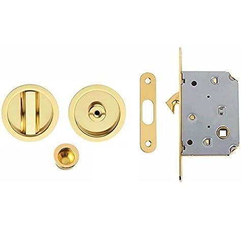 VI.TEL. E0262N 40 Kit con Cerradura para Puertas Abatibles, Color Dorado: Amazon.es: Bricolaje y herramientas