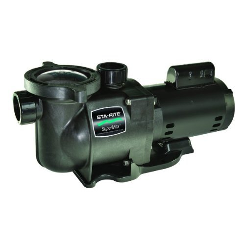 Pentair Sta-Rite N1-1-1/2A HP SuperMax Standard Efficient Single Speed High Performance Inground Pool Pump, 1-1/2 HP, 115/230-Volt ()