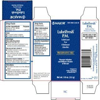 Major Pharmaceuticals Lubrifresh P.M. Sterile Artificial Tears Ointment, 3 (Ointment 3.5g Tube)