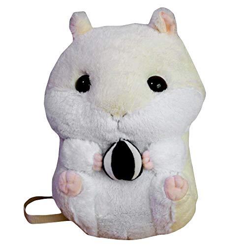 [해외]ROCK RARA Anime Bunny Hamster Backpack Medium Adjustable Backpack Stuffed Animal Doll Kids Girls (BW) / ROCK RARA Anime Bunny Hamster Backpack Medium Adjustable Backpack Stuffed Animal Doll Kids Girls (BW)