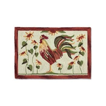 Amazon Com Park Designs Rooster Hooked Rug Kitchen Amp Dining