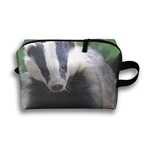 Badger Animal Natural Scenery Travel / Home Use Storage Bag, Carts Storage Space, Space Saver Carrying Bags, Organizers Sacks Set by JIEOTMYQ