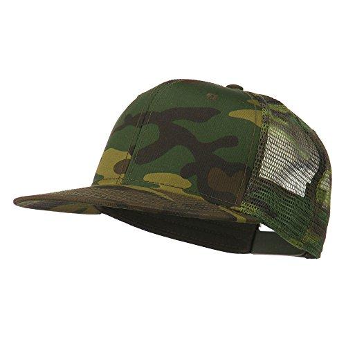 (Otto Caps Camouflage Cotton Flat Bill Trucker Cap - Camo OSFM)