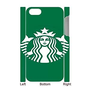 Design Cases iphone4 4S 3D Cell Phone Case White Starbucks Touwb Printed Cover