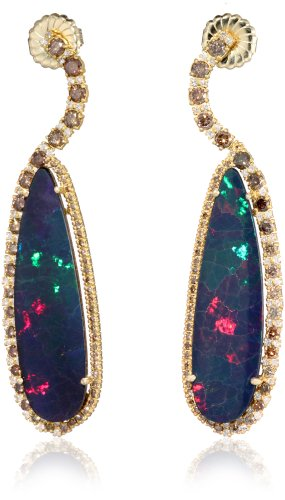 "Sara Weinstock ""Chandelier"" Opal Gold Diamond Earrings"