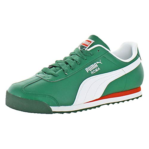 PUMA Men's Roma Basic Sneaker, Verdant Green White, 12 M US