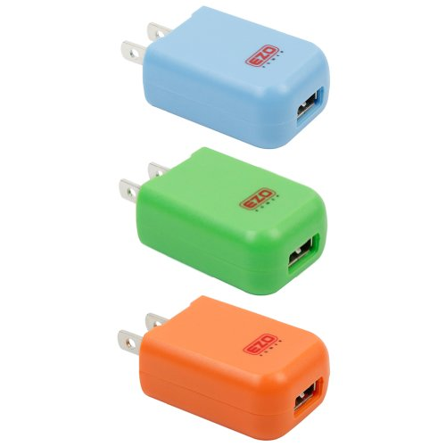 UPC 885157765503, EZOPower 3-Pack Bundle: 2A /10W USB AC Travel Wall Charger Adapter for iphone 6,iPad, iPod; Android SmartPhone, Tablet, MP3 Player, GPS, Ebook (Blue, Orange & Green)