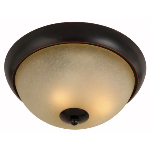 Rubbed Bronze 12 Light - Hardware House Berkshire Series 2 Light Oil Rubbed Bronze 12 Inch by 5-1/4 Inch Flush Mount Ceiling Lighting Fixture : 16-7970