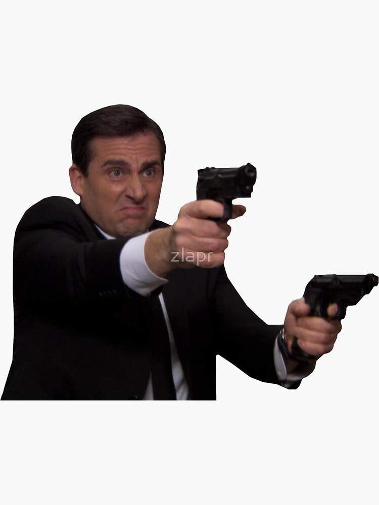 Michael Scott - Michael Scarn Double Agent Sticker - Sticker Graphic - Auto, Wall, Laptop, Cell, Truck Sticker for Windows, Cars, Trucks