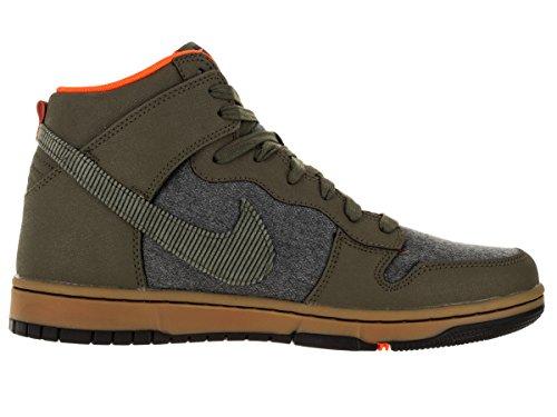 Nike Mens Dunk Cmft Prm Scarpe Casual Mdm Oliva / Nero-gm Marrone Chiaro