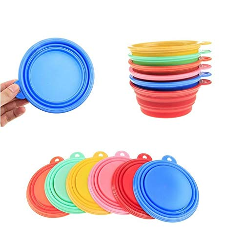 (Cat Bowl - 300pcs Multicolor Silicone Folding Pet Bowl Easy To Carry Small Dog And Cat Bowls Drinking Water - Ice Lid Porcelain Cover Set Legendog Girl Melamine Spill And)