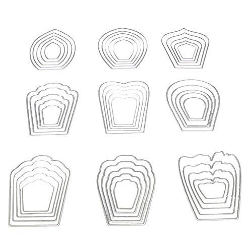 Potelin Premium Quality ® Petal Cutting Dies DIY Flower Die Cuts Metal Embossing Stencil For Album Scrapbooking Paper Card Art Craft ()