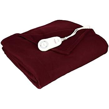 Amazon Sunbeam Fleece Heated Electric Throw Blanket With Gorgeous Heating Blanket Throw