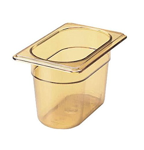 Rubbermaid Commercial Products Rcp 201P Amb X-Tra Hot Food Pan-1/9 Size 6/Cs RCP 201P AMB Xtra Hot Food Pan
