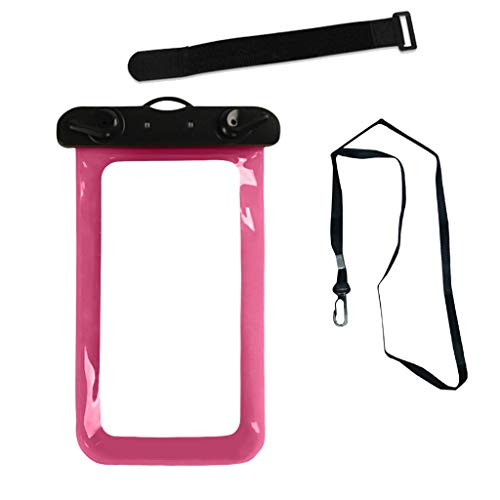 Kiorc Waterproof Underwater Swim Pouch Dry Bag Case Cover for Cell Phone Mobile Pink