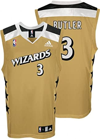 save off 20e1d 69b25 Amazon.com : Caron Butler Jersey: adidas Old Gold Replica #3 ...