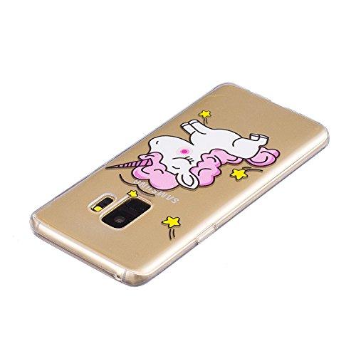 Cover para Huawei Honor 9 Lite ( No coincide Huawei Honor 9 ) , WenJie Buenos animales Transparente Encantador y de alta calidad Regalo TPU Silicona Suave Funda Case Tapa Caso Parachoques Carcasa Cubi