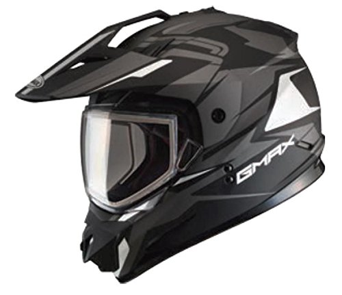 GMax GM11S Vertical Snow Sport Mens Snowmobile Helmets - Black/Silver - Medium ()