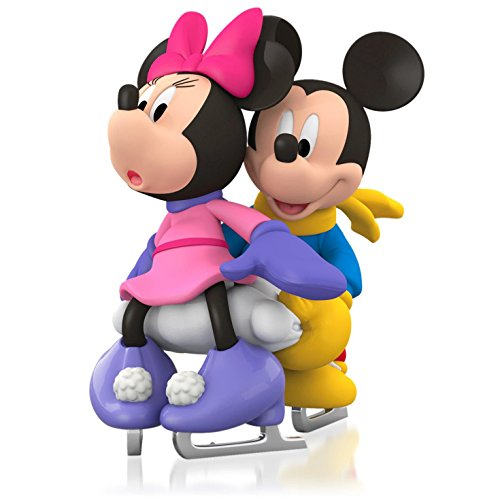 (Disney Mickey Mouse and Minnie Mouse - It Takes Two Ice Skating Ornament 2015 Hallmark)