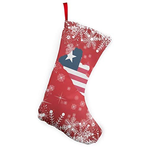 Liberia Flag Map Christmas Stockings Candy Gift Bags Fireplace -