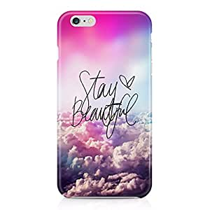Stay Beautiful Quote Tumblr Clouds Indie Hype Hipster Rad Boho Hard Plastic Snap-On Case Cover For iPhone 6