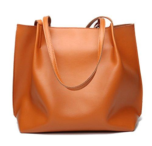 SAIERLONG Neues Damen Schwarz Echtes Leder Damen Handtaschen Schultertaschen Schwarz 1OSsFmTZBO
