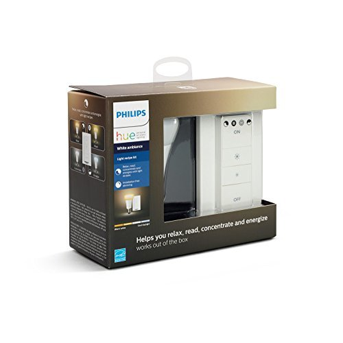 Philips Hue Smart Dimmable LED Smart Light Recipe Kit, 1 Smart Bulb and 1 Dimmer Switch, Works with Alexa, Apple HomeKit, and Google Assistant, (California Residents)