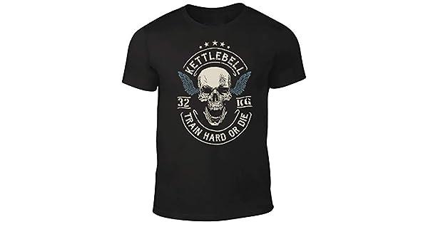 Amazon.com: DesignDivil Quality Mens Skull Crossed Barbells T-Shirt Weightlifter Kettlebell Bodybuilding Gym: Clothing