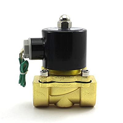 "HuntGold 3/4"" AC110V Zinc Alloy Electric Solenoid Valve Water Oil Air Gas Pneumatic Valve from HuntGold"
