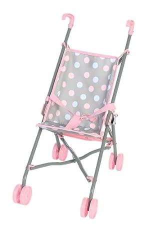 Amazon.com: Castle Toys Cute Polka Dot Baby Doll Umbrella Stroller ...