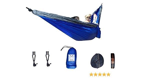Ultra Lightweight Double Hammock All Inclusive Ripstop Parachute Nylon Hammock