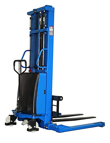 Semi-Electric Straddle Pallet Stacker, 3300 lbs Capacity, 33