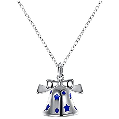 Sodialr lovely christmas pendant necklace silver plated cute sodialr lovely christmas pendant necklace silver plated cute necklace pendants 3 blue aloadofball Image collections