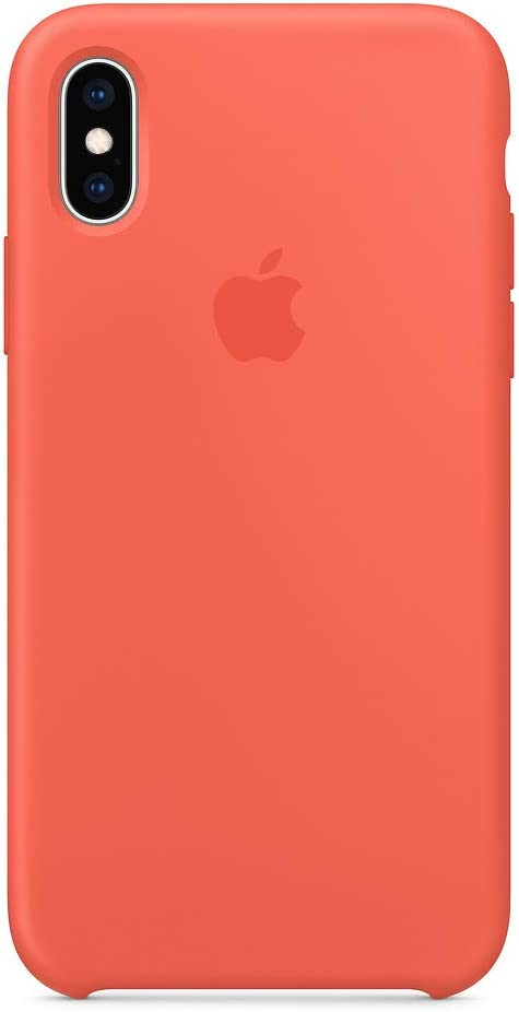 Xs Silicone Case Compatible with Apple iPhone X/Xs Silicone Cases Protective Phone Cover 5.8 inch (Nectarine)