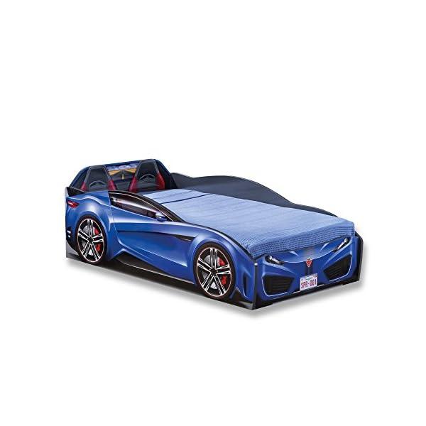 Cilek Spyder Race Car Toddler Bed Frame, Toddler, Pink 1