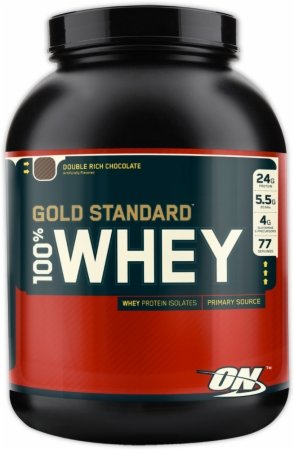 Optimum Nutrition 100 Whey Protein Gold Standard - Double Rich Chocolate 10 (Whey Gold Meal Replacement)