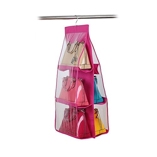 Generic Large Clear Purse Handbag Hanging Storage Organiz...