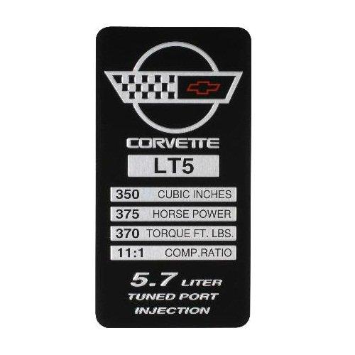 C4 Corvette 1991-1992 LT5 Engine ID Spec Metal Data Plate - C4 Corvette Engine