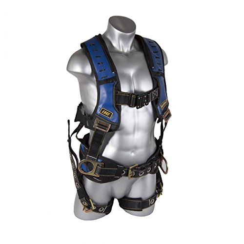 Guardian Fall Protection 193130 Construction Premium Edge Harness with Quick Connect Chest Buckle, Waist Tounge Buckle and Leg Tounge Buckles, Small by Guardian Fall Protection