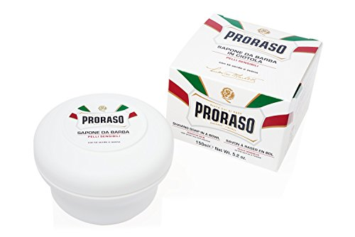Proraso Shaving Soap in a Bowl, Sensitive Skin, 5.2 oz