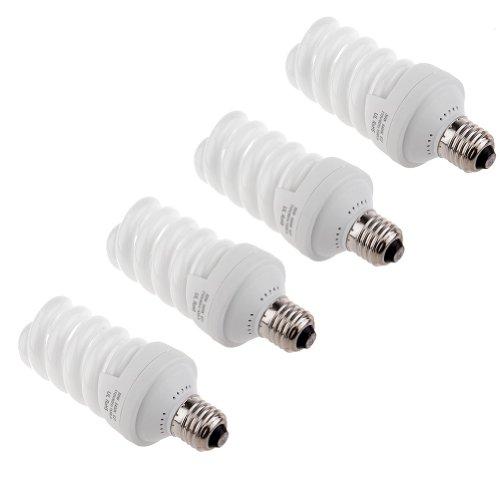 Neewer Leuchtstoff-CFL-Tageslicht mit 1300 Lumen für Studio Beleuchtungs-Set/Fotografie/Video Lichttechnik (30 Watt,4-er Pack)