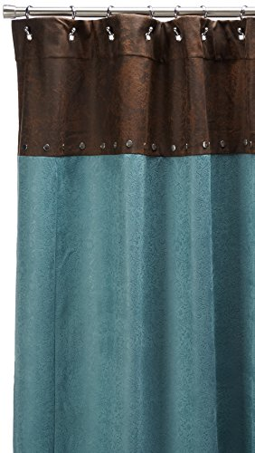 HiEnd Accents Cheyenne Western Shower Curtain, Turquoise by HiEnd Accents (Image #2)
